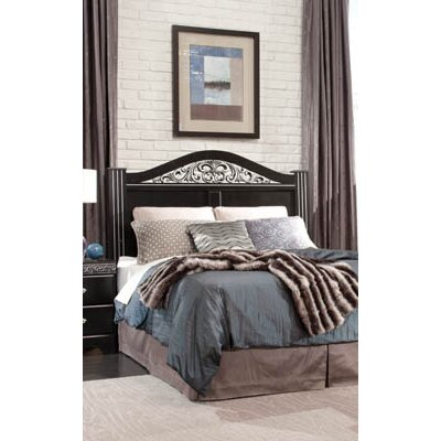 Odessa Panel Headboard Size: Full/Queen, Finish: Black