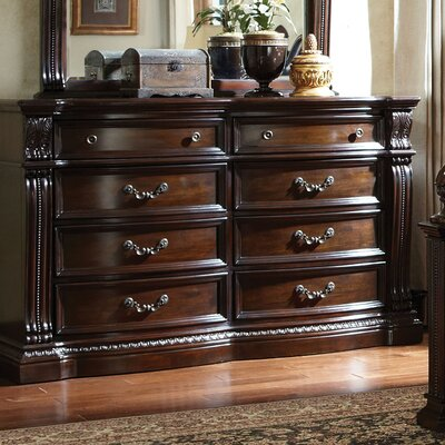 Churchill 8 Drawer Dresser with Mirror
