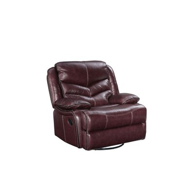 Washington Power Swivel Glider Leather Recliner