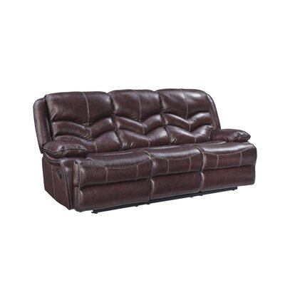 Washington Manual Motion Leather Reclining Sofa