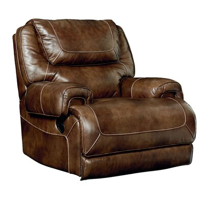 Applewood Power Rocker Leather Recliner