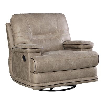 Hegarty Manual Motion Leather Recliner