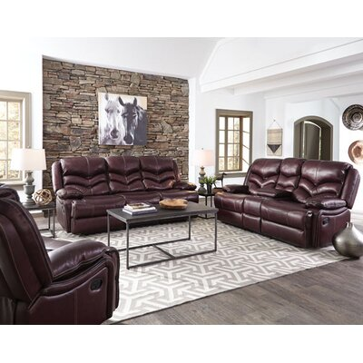 Scribner Console Power Motion Leather Loveseat