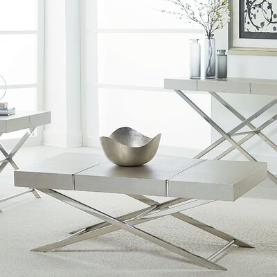 Ava Lift Top Coffee Table Color: Sliver