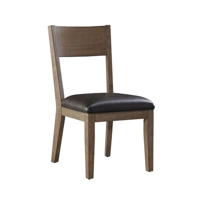 Sierra Genuine Leather Upholstered Dining Chair (Set of 2)