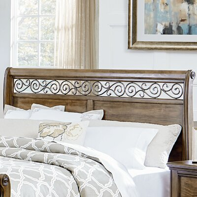 Hildegarde Sleigh Headboard Size: King