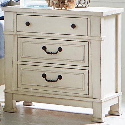 Parfondeval 3 Drawer Wood Nightstand