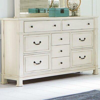 Parfondeval White 9 Drawer Standard Dresser