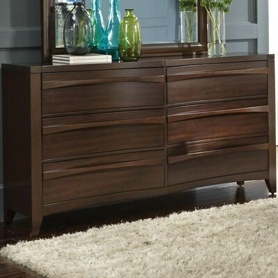 Downs 6 Drawer Double Dresser