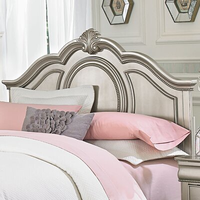 Jan Silver Panel Headboard Size: Full