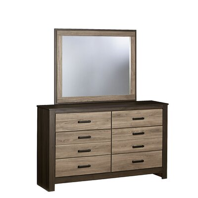 Henson 6 Drawer Double Dresser with Mirror