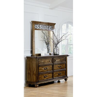 Hildegarde 6 Drawer Dresser with Mirror