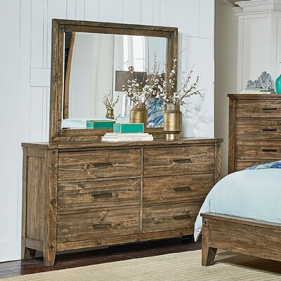 Burleigh 6 Drawer Dresser with Mirror
