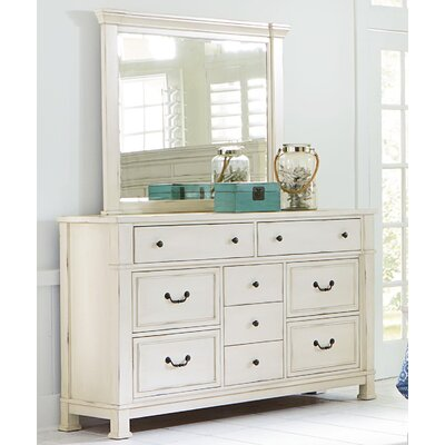 Parfondeval 9 Drawer Dresser with Mirror