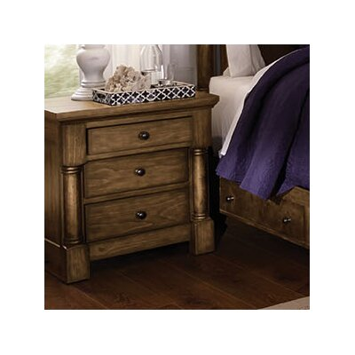 Burndale 3 Drawer Nightstand