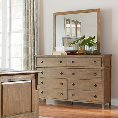 Grimaud 8 Drawer Double Dresser with Mirror