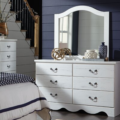 Elinor 6 Drawer Double Dresser with Mirror