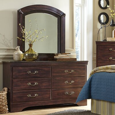 Crabtree Solid Wood 6 Drawer Double Dresser with Mirror