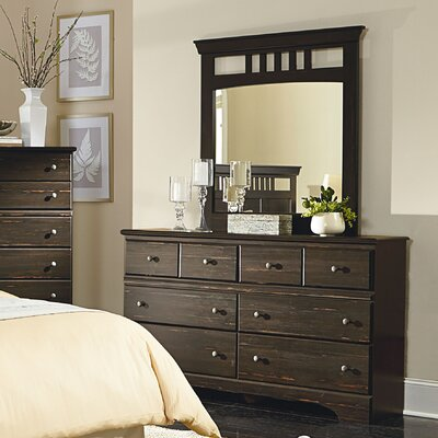 Crawley 6 Drawer Double Dresser with Mirror