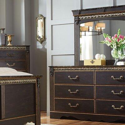 Queenie 6 Drawer Dresser with Mirror