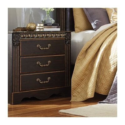 Queenie 3 Drawer Nightstand