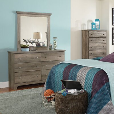 Noble 6 Drawer Dresser with Mirror