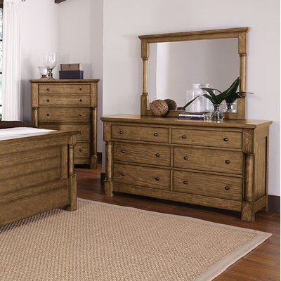 Burndale 6 Drawer Double Dresser with Mirror