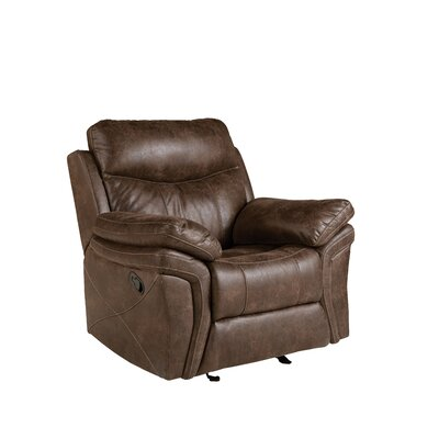 Culloden Glider Recliner Upholstery: Brown, Recliner Type: Power