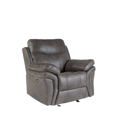 Culloden Glider Recliner Upholstery: Granite, Recliner Type: Power