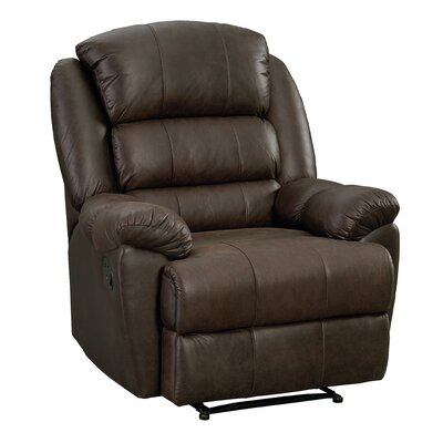 Dearing Manual Rocker Recliner Upholstery: Chocolate