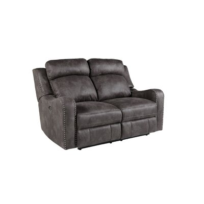 Candida Contemporary Reclining Loveseat