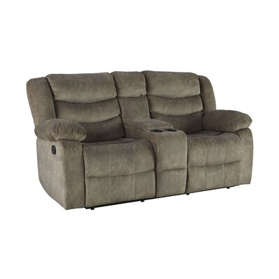 Eila Reclining Loveseat Upholstery: Tan