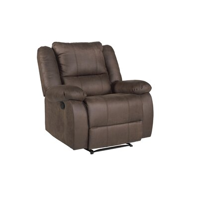 Eton Manual Recliner Upholstery: Dark Brown