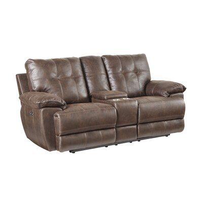Lucio Tuffed Reclining Loveseat Recliner Mechanism: Power