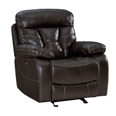 Ellenton Manual Glider Recliner Upholstery: Java