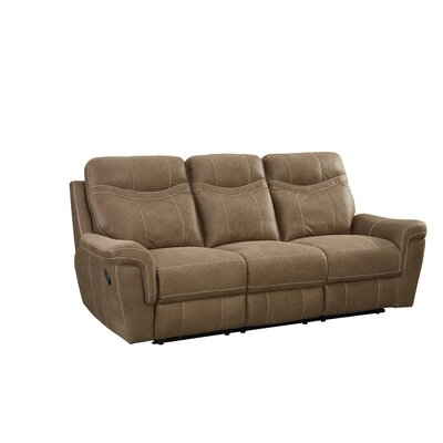 Orlando Manual Motion Reclining Sofa Upholstery: Brown