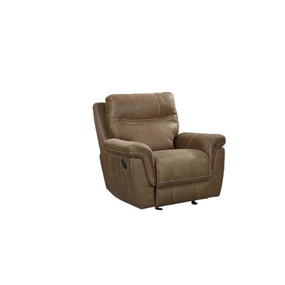 Garretson Manual Rocker Recliner Upholstery: Brown