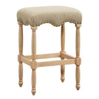Adalhard 30 Bar Stool with Fabric Upholstered Seat