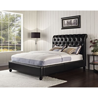 Stanton Upholstered Platform Bed Size: King, Color: Black