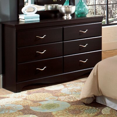 No credit check financing Crossroads 6 Drawer Dresser...