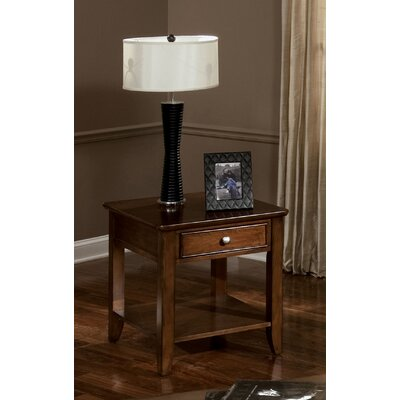 Cheap Standard Furniture Hialeah Court End Table in Warm Cherry (SJ3091)