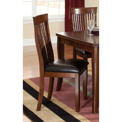 pangea home sienna vinyl dining chair set of 2 color brown phq1110