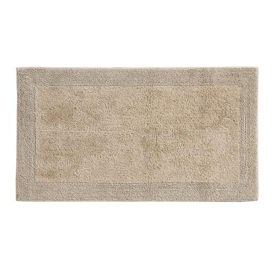 "Puro Organic Cotton Bath Rug Color: Driftwood, Size: 24"" x 60"""