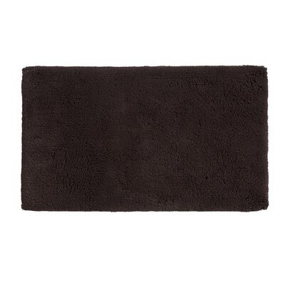 Alida Cotton Bath Rug Size: 2.5 H x 24 W x 40 D, Color: Chocolate