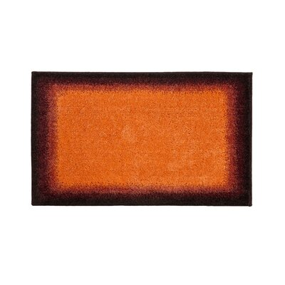 Avalon Blue Bath Rug Color: Orange