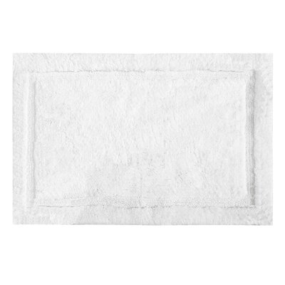 Asheville Organic Cotton Bath Rug Color: White, Size: 17 W x 24 L