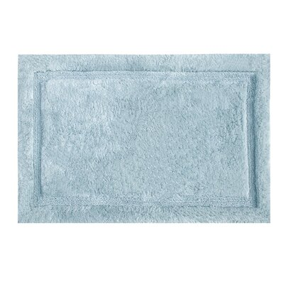Asheville Organic Cotton Bath Rug Color: Denim Blue, Size: 24 W x 60 L