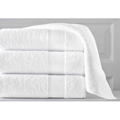 Aster 3 Piece Towel Set Color: White