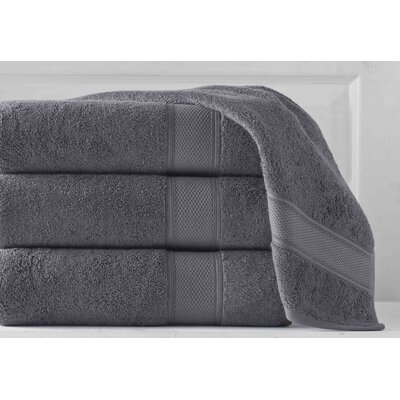 Aster 3 Piece Towel Set Color: Slate Gray