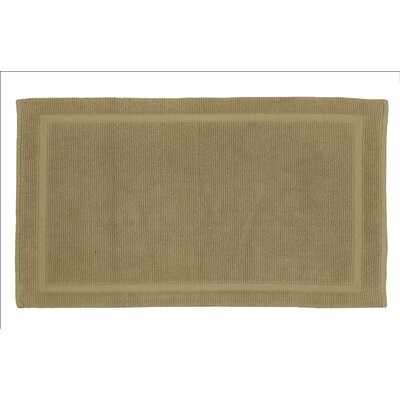 Lindner Cotton Bath Rug Size: 2.5 H x 17 W x 24 D, Color: Driftwood